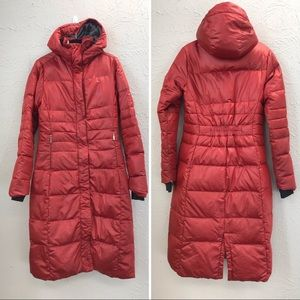 Spyder down parka long red size small